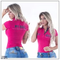 Blusa Polo Pitbull Pit Bull Sexy Lançamento 2017 Ref.23584