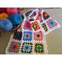 Manta O Pie De Cama Tejido A Crochet, Colores Muy Alegres!!!