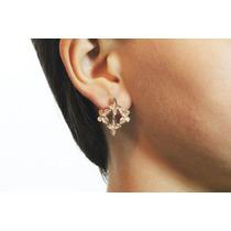 Arete Moda Cobre Mariposa Y Cruces Finos Cristales Ar321
