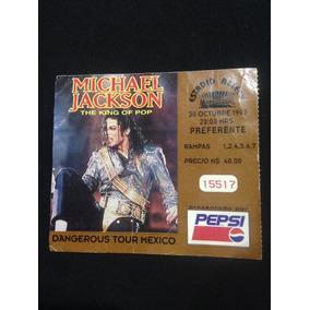 Michael Jackson Boleto De Concierto En México 1993