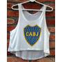 Blusa Cropped Boca Juniors Feminina Regata Camiseta