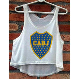 Blusa Cropped Boca Juniors Feminina Regata Camiseta