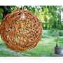 Lamparas Esferas De Mimbre - Listas Para Colocar 40 Diametro
