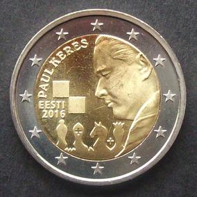 Estonia - Moneda 2 Euros 2016 - Paul Keres ¡ S/circ.!
