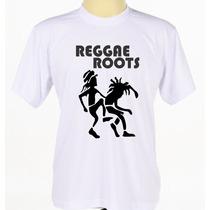 Camiseta Camisa Branca Personalizada Estampada Reggae Roots