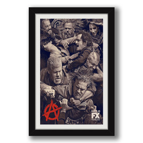 Quadro Sons Of Anarchy 60x40cm Soa Serie Drama Tr Decoracao