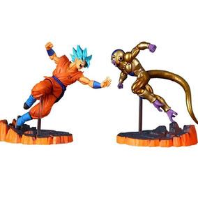 Goku Azul X Golden Freeza Action Figure Dragon Ball Na Caixa