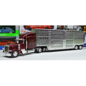 1:32 Peterbilt 387 Vino C Caja Ganadera New Ray Trailer