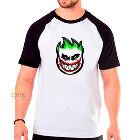 Camiseta Spitfire Vilao Skate Camisa Skatista Raglan