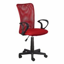 Cadeira Escritorio Lost Secretária Giratória Vermelha + Nf
