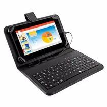 Case Tablet 10 Polegada +teclado Usb + Caneta+ Cabo Otg