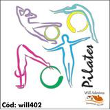 Adesivo De Parede Digital Pilates Ginástica Academia Will402