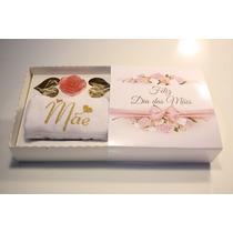 50 Caixas Dia Das Mães Com Toalha Bordada Flores Lembrança