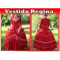 Vestido De Prenda Gaúcha Adulto P À Xxg Mod. Regina