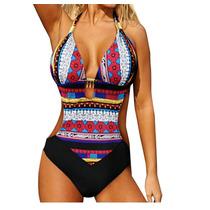 Traje De Baño Bikini Completo Sexy Monokini Push Up Rojo