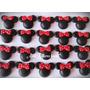 100 Apliques Em Biscuit Minnie Vermelha Lembrancinha