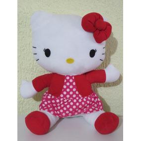 Peluche Hello Kitty Con Vestido Rosa 35cm