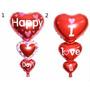 Globo Metalizados Feliz Dia Love Amor San Valentin Corazon