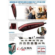 Maquina De Cortar Cabelo Gama Gm586 Plus 110v + 13 Pentes