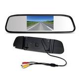 Kit Camera E Retrovisor Monitor Lcd Para Seguranca Do Carro