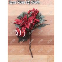 Guirlanda De Natal Importada Enfeite 7014 Pick Flores Papaga