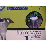 Luz De Jardin Led Solar Estaca Acero Inox