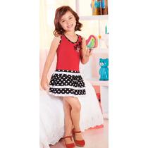 Vestido Rojo/negro Estampado 75031 Vicky Form
