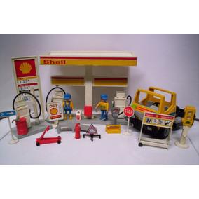 Playmobil Gasolineria Shell Vintage Camion Y Accesorios