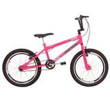 Bicicleta Infantil Mormaii Aro 20 Cross Fem Rosa Barbie
