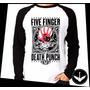Manga Longa Five Finger Death Punch Banda Rock Blusa Camisa