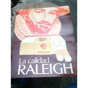 Publicidad De Cigarros Original En Cartoncillo Raleigh