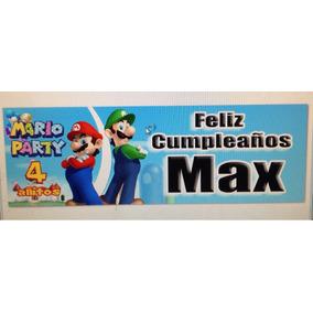Mario Bross Letrero Personalizado