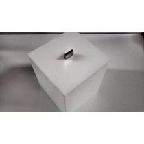 Lixeira Branca Em Acrilico Quadrada