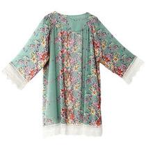 Las Mujeres Boho Rebeca Flores Mujer Encaje Retro Kimono