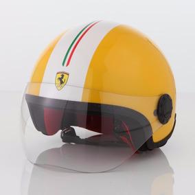 Capacete Original Ferrari Giallo Metal Original Ferrari Novo