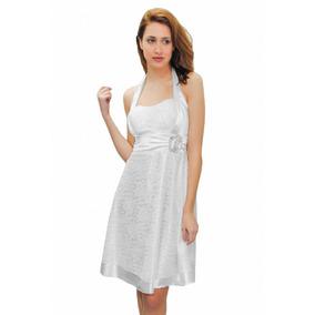 Vestido Corto De Encaje Y Faja De Raso, Brishka, M-0036