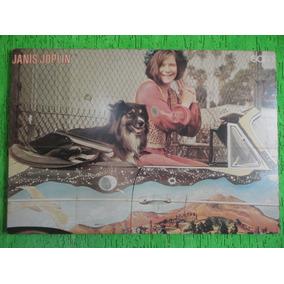 Antigo Quadro Psicodelico Janis Joplin 98 X 67 Cm