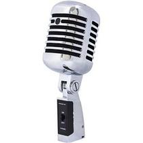 Proel Microfono Vocal Diseño Estilo Antiguo Metalico Dm55v2