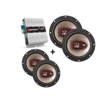 Módulo Amplificador Tl 600 Som Interno + 4 Bravox 6 Pol
