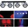 Trave Com Iluminação 4 Canhões Led 40 Wts 2 Cores Para Djs