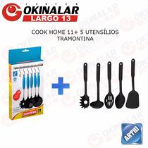 Barra Cook Home 30cm + Kit Utensílios 5pçs Tramontina