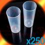 Vaso Trago Largo Plástico Pp Traslúcido Caja 250u