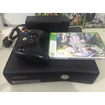 Xbox 360 S - Controle +fonte+hdmi+kinect E Jogos Brinde