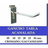 Gancho Exhibidor Tabla Acanalada 25 Cm Galvanizado