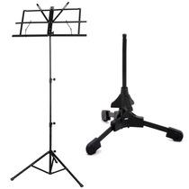 Suporte Ask S4 P/ Sax Clarinete Trompete + Estante Partitura