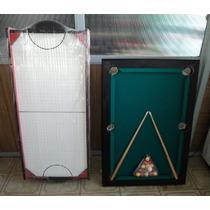 Mini Tejo Patas Plegables + Mini Pool Patas Plegables