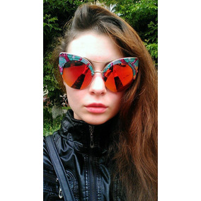 Lindos Lentes De Sol Cat Eye Vintage Retro Moda Europea