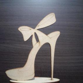 Centro De Mesa - Zapato Fibro Facil 25cm Altura