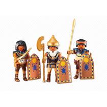 Playmobil Egito History Trio Guerreiros 6488 Monte Sua Tropa