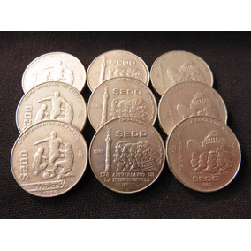 Set 3 Monedas 200 Pesos Independencia Revolucion Mundial 86